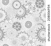 hand drawn floral background   Shutterstock .eps vector #208006954