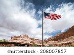 American Flag In Capitol Reef...