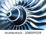Blue Tone Jet Engine Blades...