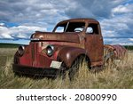 Old Farm Truck Left In The Field
