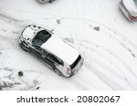 elevated view of cars covered... | Shutterstock . vector #20802067