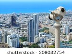 Tel Aviv City Coastline View...