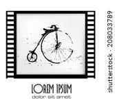film frame vintage bicycle | Shutterstock .eps vector #208033789
