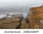aegean shore in greece  thassos ... | Shutterstock . vector #208033849