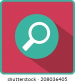 flat vector search icon | Shutterstock .eps vector #208036405