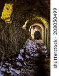 tunnel of the medieval castle...