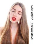 portrait of attractive young... | Shutterstock . vector #208056091