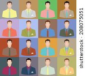 man's avatars set a casual style | Shutterstock .eps vector #208075051