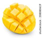mango fruit isolated on white... | Shutterstock . vector #208080619