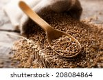 wheat grain in the composition... | Shutterstock . vector #208084864