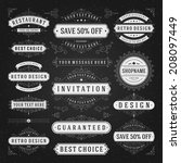 vintage vector design elements... | Shutterstock .eps vector #208097449