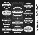 vintage vector design elements... | Shutterstock .eps vector #208097455