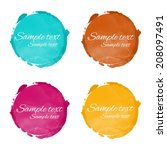 set watercolor rainbow circle... | Shutterstock .eps vector #208097491