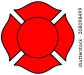 firefighter maltese cross | Shutterstock .eps vector #208098499