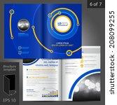 blue vector brochure template... | Shutterstock .eps vector #208099255