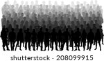 group of people | Shutterstock .eps vector #208099915