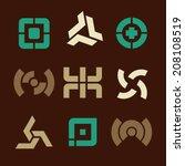 vector minimal design   icons... | Shutterstock .eps vector #208108519