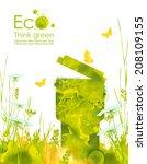 illustration environmentally...   Shutterstock . vector #208109155