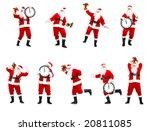 happy christmas santa. isolated ... | Shutterstock . vector #20811085