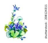 campanula   Shutterstock .eps vector #208124311