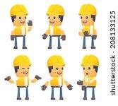 set of contractor character in... | Shutterstock .eps vector #208133125