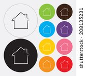 home icon in flat design style. ...