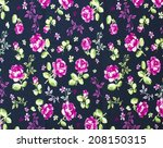 rose fabric   rose fabric... | Shutterstock . vector #208150315