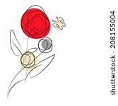 floral design | Shutterstock . vector #208155004