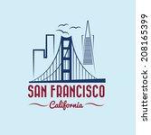 san francisco skyline...   Shutterstock .eps vector #208165399