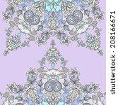vector decorative floral... | Shutterstock .eps vector #208166671