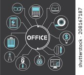 office supply info graphic in... | Shutterstock .eps vector #208167187