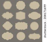 label big set  vector... | Shutterstock .eps vector #208171699