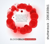 blood cells circle background | Shutterstock .eps vector #208183861