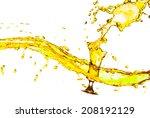 drink a glass of yellow splash... | Shutterstock . vector #208192129