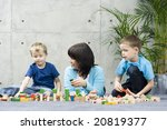 mother and two children and... | Shutterstock . vector #20819377