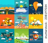icons set of traveling ... | Shutterstock .eps vector #208197034