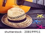 Acoustic Guitar Star Hat And...
