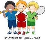 illustration featuring little... | Shutterstock .eps vector #208227685