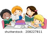 illustration featuring a group... | Shutterstock .eps vector #208227811