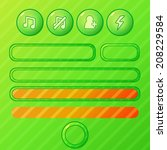 bright green game ui elements   ...