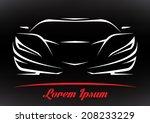 concept sportscar vehicle... | Shutterstock .eps vector #208233229