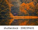 Stock photo autumn lake 208239631