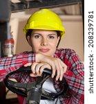 portrait of confident female...   Shutterstock . vector #208239781