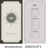 menu for the restaurant in... | Shutterstock .eps vector #208241371