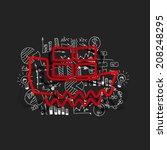drawing business formulas  ship | Shutterstock . vector #208248295