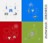 set of medical icons | Shutterstock . vector #208248511