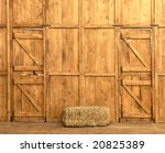 Stable interior - stock photo