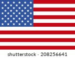 an image of american flag | Shutterstock . vector #208256641