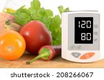 blood pressure monitor with... | Shutterstock . vector #208266067