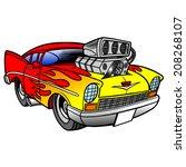 hot rod   Shutterstock .eps vector #208268107